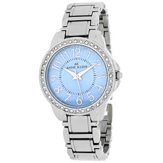 Anne Klein Women's 10-9661TMSV Classsic Round Silvertone Stainless Steel Bracelet Watch