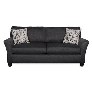 Sofab Shag II Pepper Sofa With Two Reversible Accent Pillows