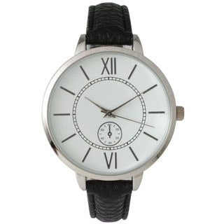 Olivia Pratt Women's '14950' Skinny Decorative Chronograph Leather Watch