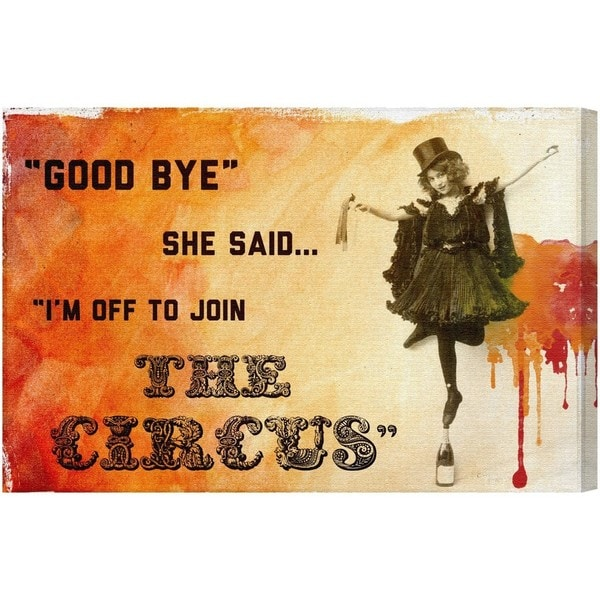 Blakely Home 'Join The Circus Orange' Canvas Art