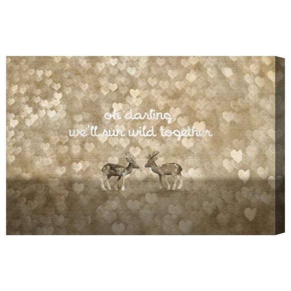 Blakely Home 'Run Wild Together' Canvas Art