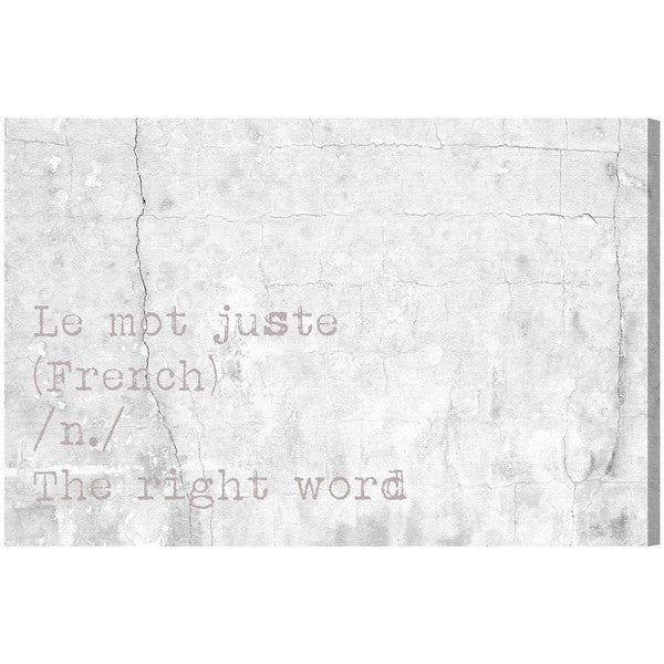 Blakely Home 'Le Mot Juste' Canvas Art