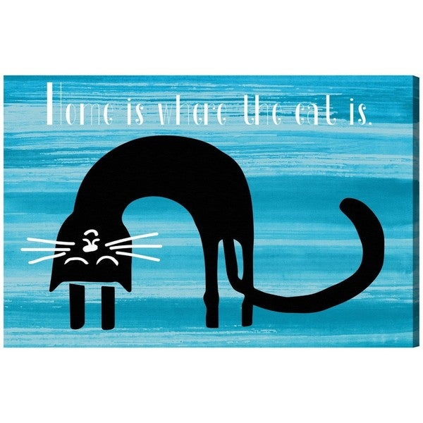 Blakely Home 'Where the cat is' Canvas Art