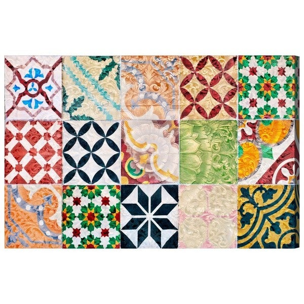 Blakely Home 'Granada Tiles' Canvas Art