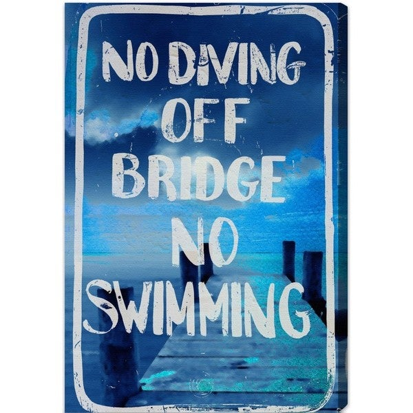 Blakely Home 'No Diving' Canvas Art
