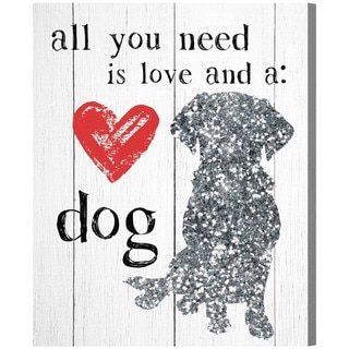 Blakely Home 'Love and a Dog' Canvas Art