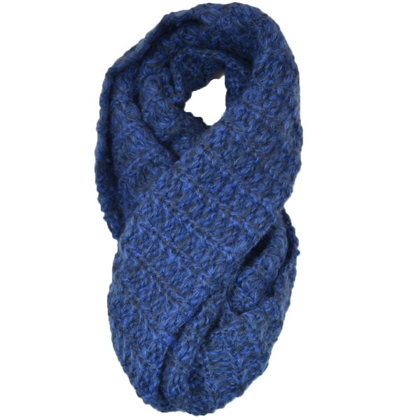 Two-tone Knit Circle Scarf