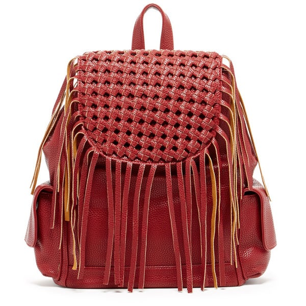 "Pink Haley ""Alexis"" Fringe Backpack"