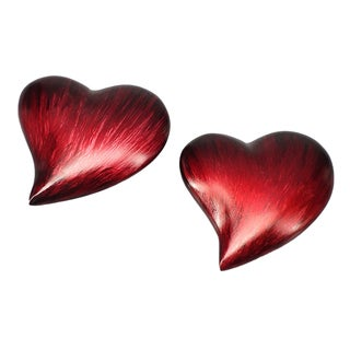 Corazon LG Heart Paperweight (Set of 2)