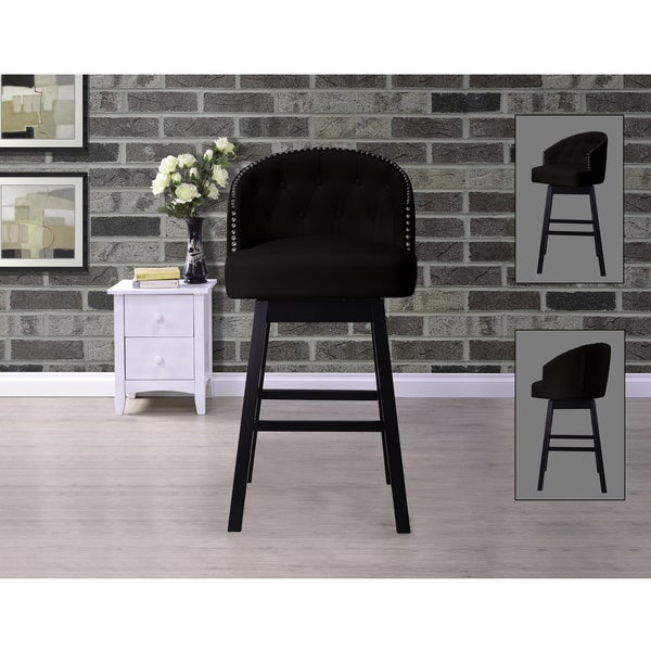 Baxton Studio Avril Contemporary Black Faux Leather Tufted