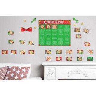Advent Calendar Wall Decal Set