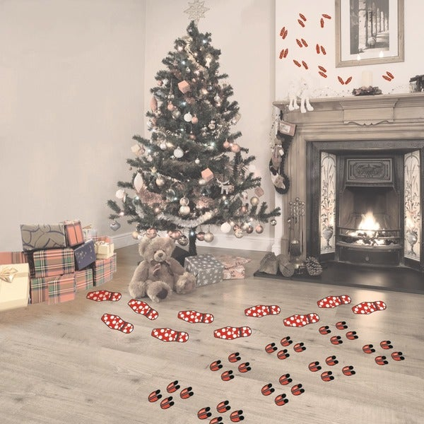 Christmas Character Footprints Decal Set