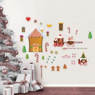 Gingerbread House Wall Decal Set