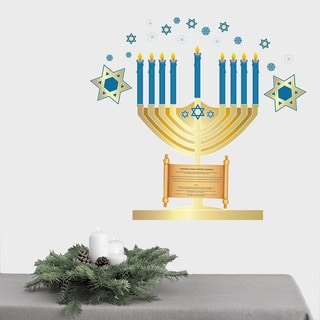Hanukkah Menorah Wall Decal Set