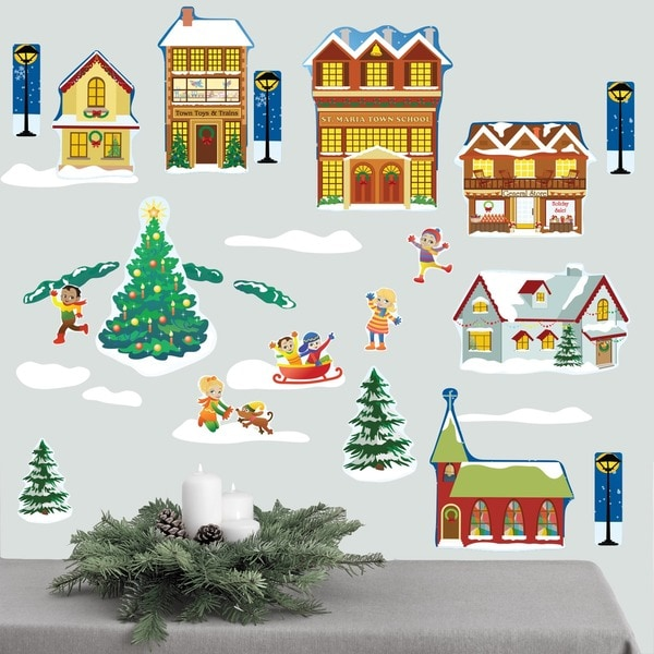 Winter Village Wall Decal Set