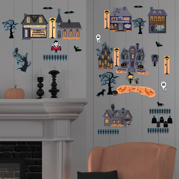 Halloween Village Vampire Wall Decal Set