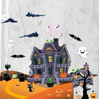 Halloween Haunted House Wall Decal Set
