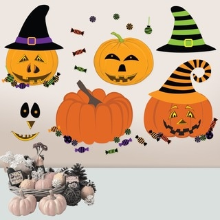 Halloween Pumpkin Dress Up Wall Decal Set