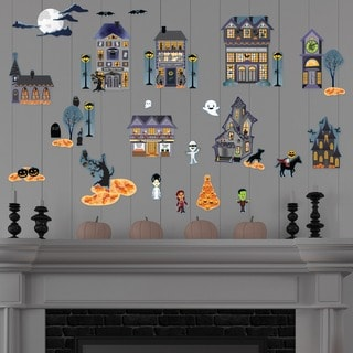 Halloween Village Frankenstein Wall Decal Set