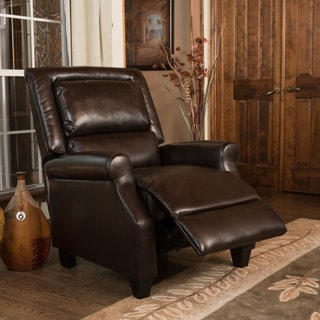 Christopher Knight Home Reddington Brown Bonded Leather Recliner Club Chair