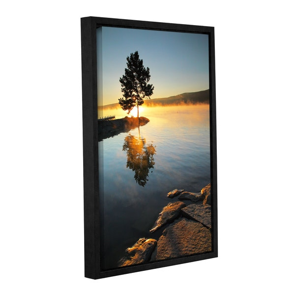 ArtWall Steve Ainsworth 'Witness To The Dawn' Gallery-wrapped Floater-framed Canvas