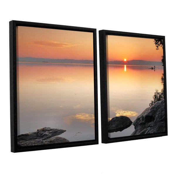 ArtWall Steve Ainsworth 'Potomac Sunrise' 2 Piece Floater Framed Canvas Set