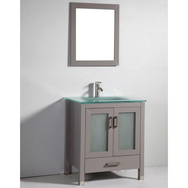 Legion furniture 30 inch solid wood sink vanity with for Legion furniture 30 inch bathroom vanity