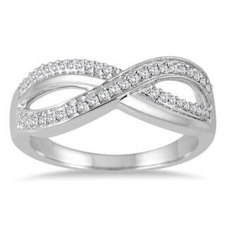10k White Gold 1/5ct TDW Diamond Infinity Ring (I-J, I1-I2)