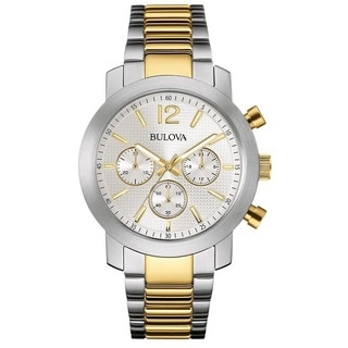 Bulova Men's 98A145 Stainless Steel Chronograph Two Tone Watch