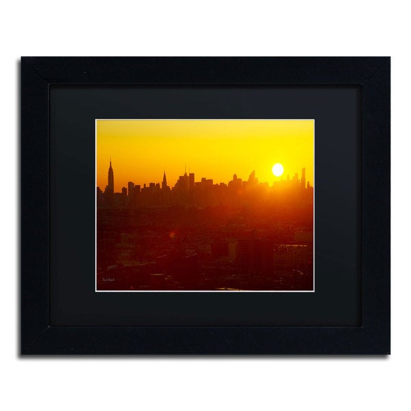 David Ayash 'Hells Gate Bridge - NYC' Black Matte, Black Framed Wall Art