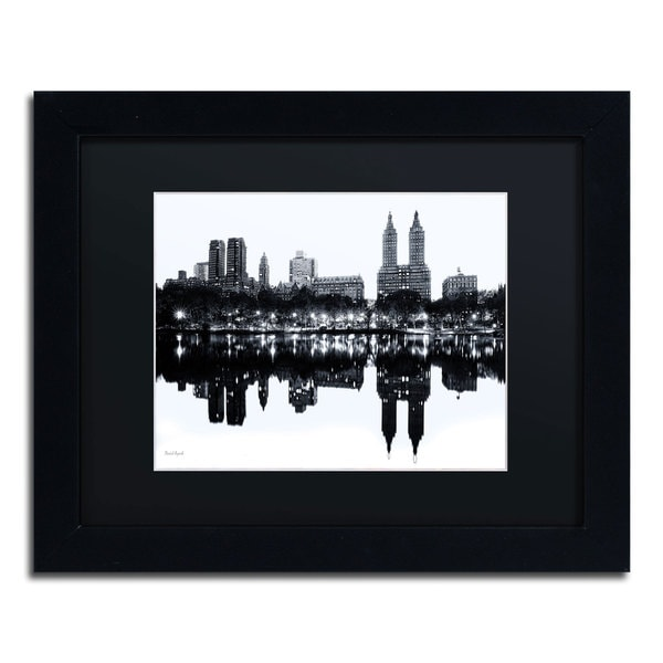 David Ayash 'Central Park West II' Black Matte, Black Framed Wall Art