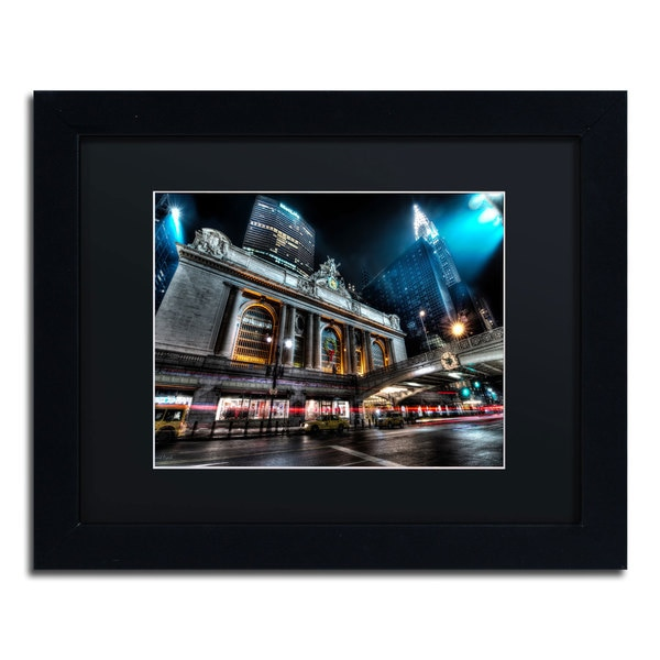 David Ayash 'Grand Central Terminal 42nd. Street - Manhattan' Black Matte, Black Framed Wall Art