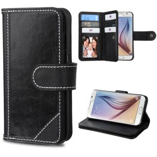 Insten Leather Fabric Phone Wallet Flap Pouch Case Cover with Stand/ Photo Display For Samsung Galaxy S6