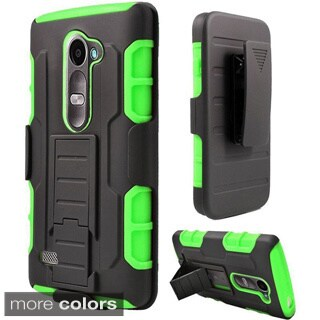 Insten Car Armor Hard PC/ Silicone Dual Layer Hybrid Phone Case Cover For LG Destiny/ Leon/ Power/ Sunset/ Tribute 2
