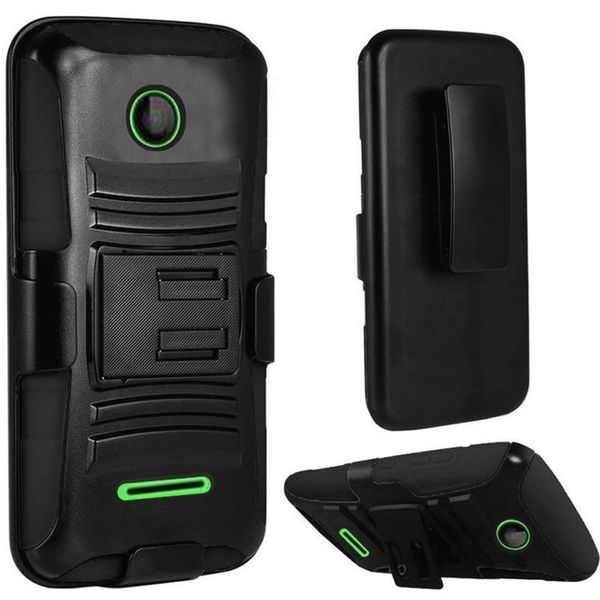 Insten Hard PC/ Silicone Dual Layer Hybrid Phone Case Cover with Holster For Microsoft Lumia 435