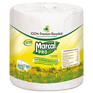 Marcal PRO 100% Recycled White Bathroom Tissue (Pack of 48)
