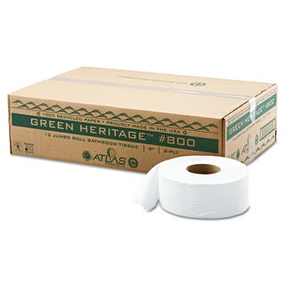 Atlas Paper Mills Green Heritage Jumbo Junior Roll 2-Ply Toilet Tissue (Pack of 12)