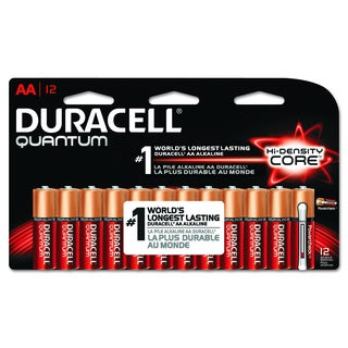 Duracell Quantum AA Alkaline Batteries with Duralock Power Preserve Technology (Pack of 12)