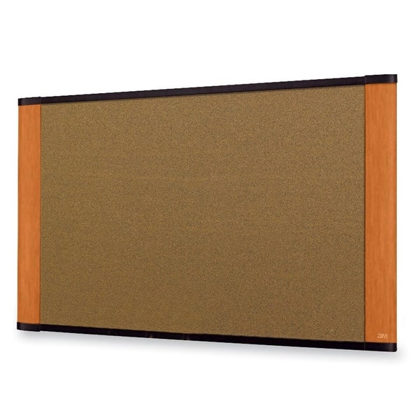 3M Light Cherry Frame Cork Bulletin Board