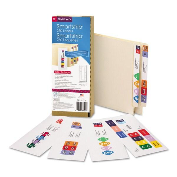 Smead Smartstrip Refill Label Kit (Pack of 250)