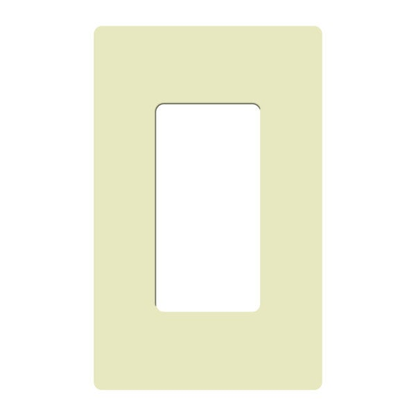 Claro Single Gang Rocker Wallplate by Lutron