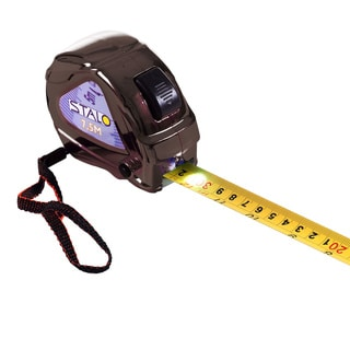 Contractor Tape Measure with LED, SAE and Metric, Black
