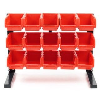 Stalwart Bench Top Parts Rack - 15 pieces