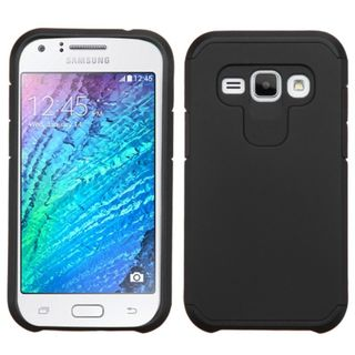 Insten Hard PC/ Silicone Dual Layer Hybrid Rubberized Matte Phone Case Cover For Samsung Galaxy J1