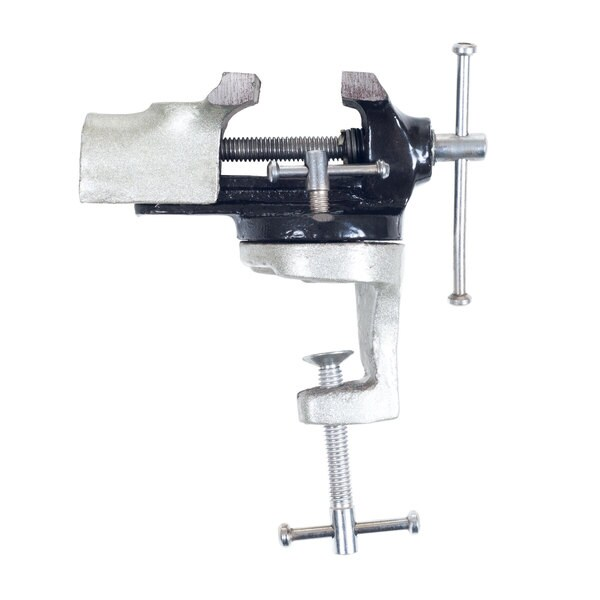 2-inch Heavy Duty Steel Table Top Swivel Vise by Stalwart