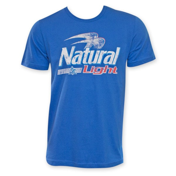 Natural Light Men's Blue Logo T-Shirt