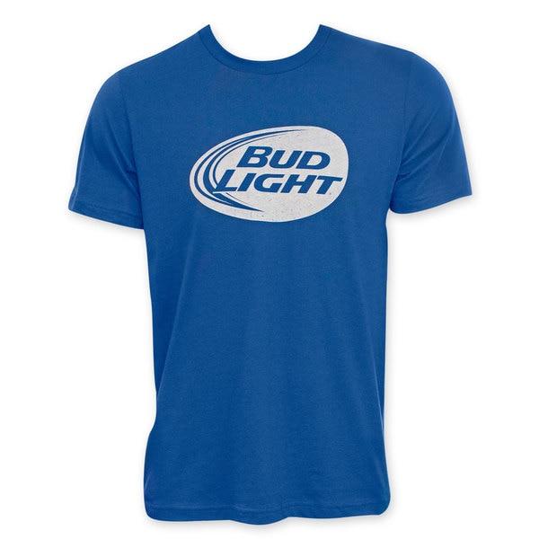 Bud Light Blue Men's White Logo Tee Shirt