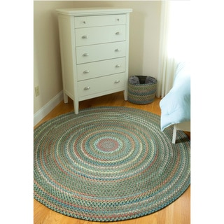 Charisma Indoor / Outdoor 8-foot Round Braided Rug by Rhody Rug