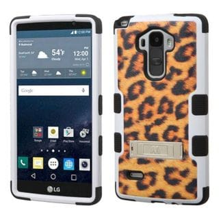 Insten Design Pattern Tuff Hard PC/ Silicone Dual Layer Hybrid Phone Case Cover with Stand For LG G Stylo