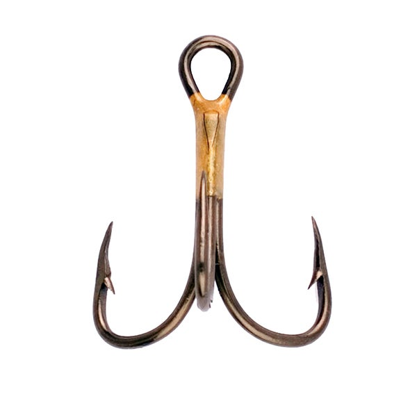 Eagle Claw Lazer 2x Treble Reg Shank Curved Point Hook Bronze Size 6 (Per 5)